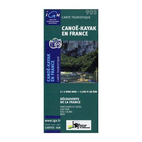 carte de france kayak
