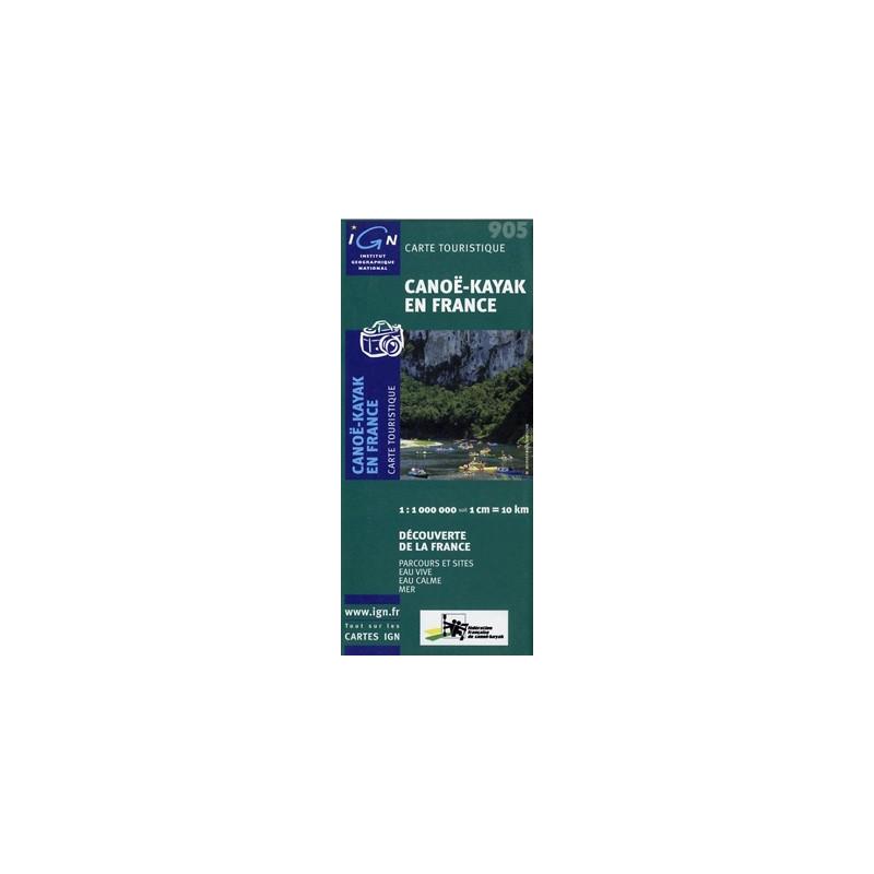 carte de france canoe kayak