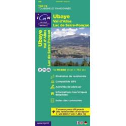 Carte randonnées IGN - Ubaye, val d'Allos - TOP 75