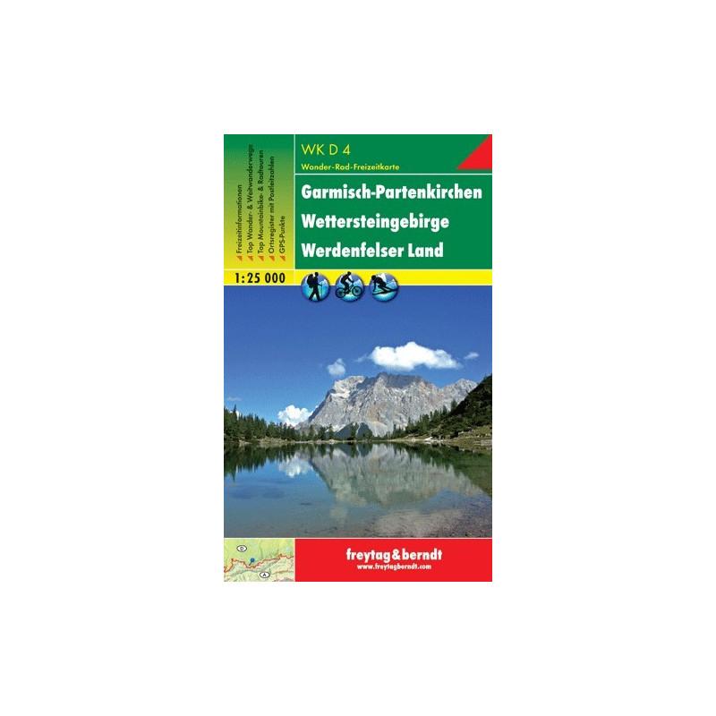 Achat Carte randonnées Garmisch-Partenkirchen Freytag 4