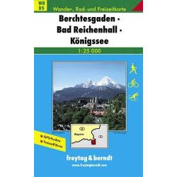Carte randonnées Berchtesgaden, Bad Reichenhall, Königssee Freytag 5