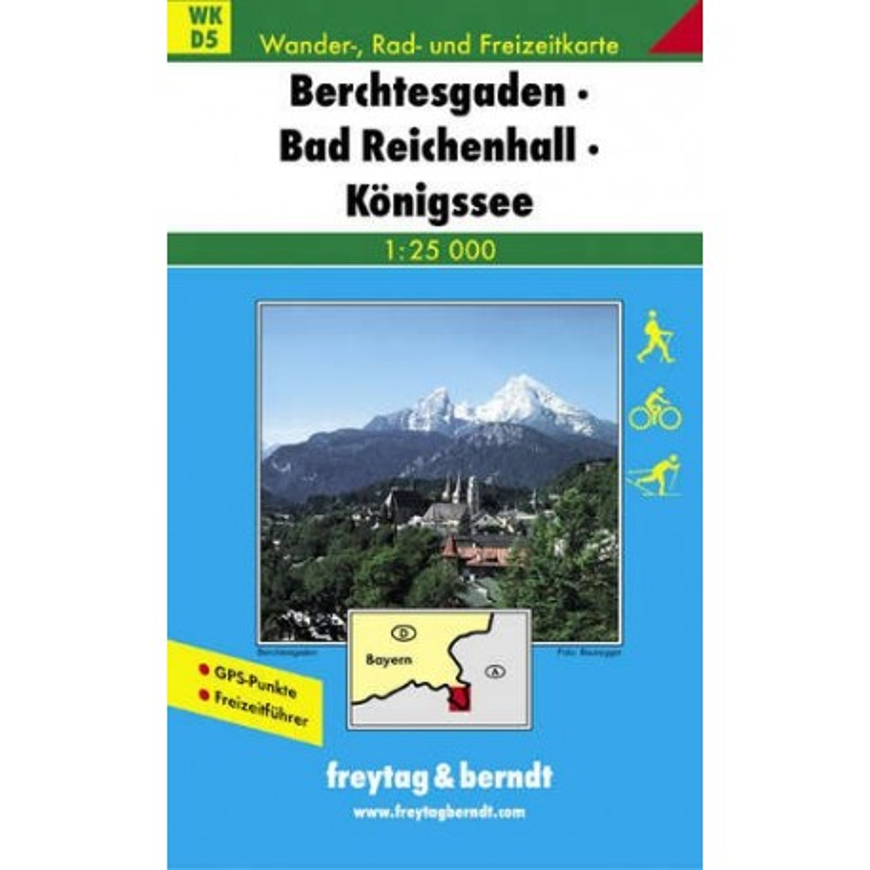 Achat Carte randonnées Berchtesgaden, Bad Reichenhall, Königssee Freytag 5