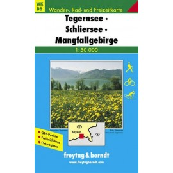 Carte randonnées Tegernsee, Schliersee Freytag 6