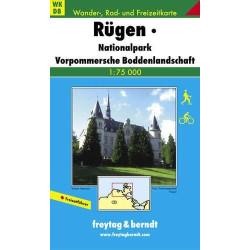 Carte randonnées Rügen, Nationalpark Vorpommersche  Freytag 8