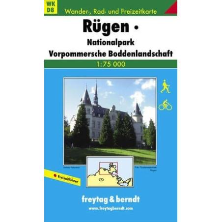 Achat Carte randonnées Rügen, Nationalpark Vorpommersche  Freytag 8