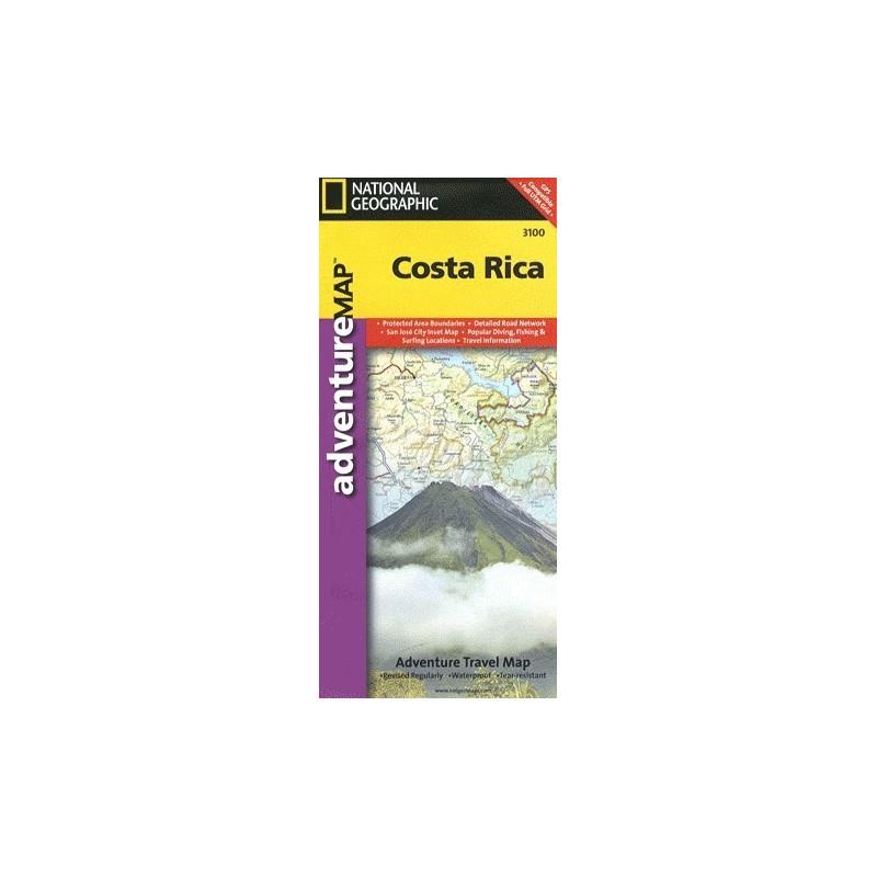 Achat Carte routière Costa Rica - National Géographic