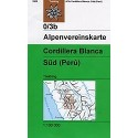 Achat Carte randonnées Cordillera Blanca, Süd (Perú) - Alpenverein