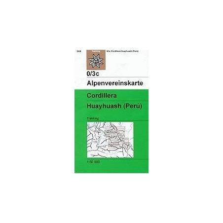 Achat Carte randonnées Cordillera Huayhuash (Perú) - Alpenverein