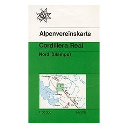Carte randonnées Cordillera Real, Nord (Illampu, Bolivie) - Alpenverein