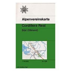 Achat Carte randonnées Cordillera Real, Süd (Illimani, Bolivie) - Alpenverein