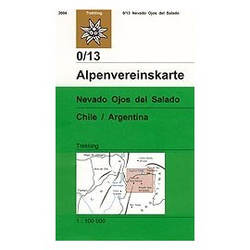 Achat Carte randonnées Nevado Ojos del Salado (Chili, Argentine) - Alpenverein