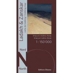 Achat Carte randonnées Ladakh, Zanskar Nord - éditions Olizane