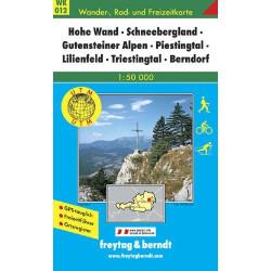 Carte randonnées Hohe Wand-Schneebergland-Gutensteiner Alpen - Freytag 012