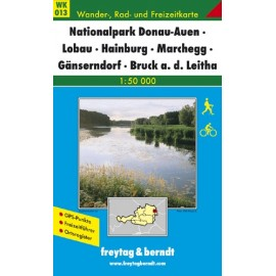 Carte randonnées Nationalpark Donau-Auen-Lobau Leitha - Freytag 013