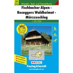 Carte randonnées Fischbacher Alpen, Roseggers Waldheimat - Freytag 021