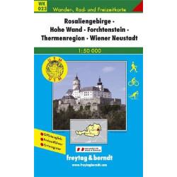 Carte randonnées Rosaliengebirge, Hohe Wand-Forchtenstein - Freytag 023