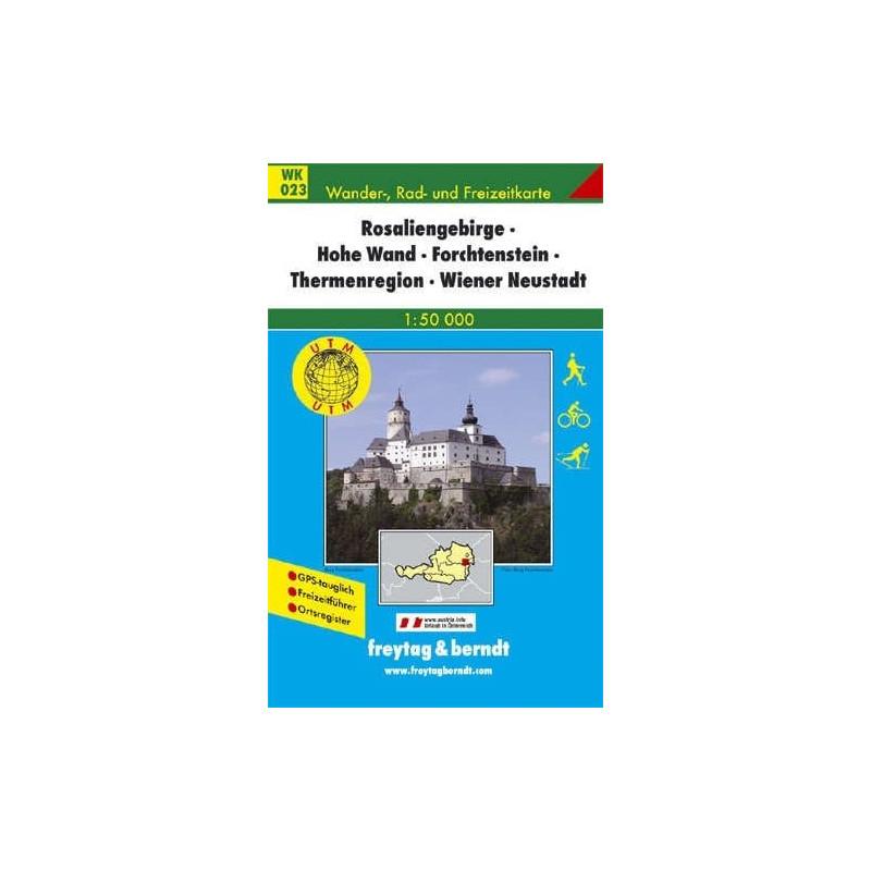 Achat Carte randonnées Rosaliengebirge, Hohe Wand-Forchtenstein - Freytag 023