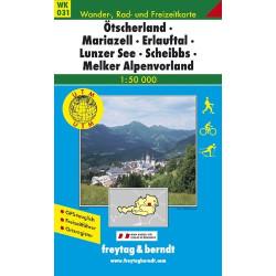 Carte randonnées Ötscherland, Mariazell, Erlauftal, Lunzer - Freytag 031