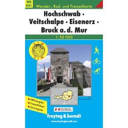 Carte randonnées Hochschwab, Veitschalpe, Eisenerz, Bruck - Freytag 041