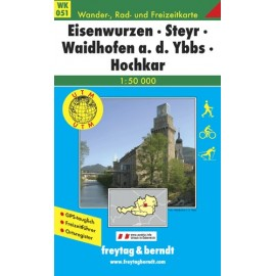 Carte randonnées Eisenwurzen, Steyr, Waidhofen - Freytag 051