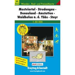 Carte randonnées Mostviertel, Strudengau, Donauland- Freytag 052