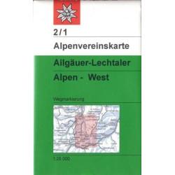 Achat Carte randonnées Allgauer, Lechtaler Alpen West -Alpenverein 02/1