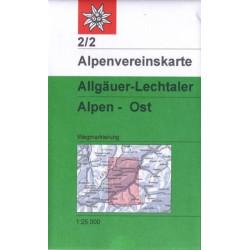 Achat Carte randonnées Allgauer, Lechtaler Alpen Ost - Alpenverein 02/2