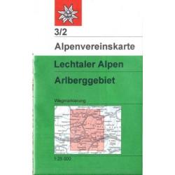 Achat Carte randonnées Lechtaler Alpen, Arlberg - Alpenverein 03/2