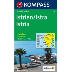 Achat Carte randonnées Istrien, Istries, Istria - Kompass 238
