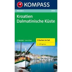 Carte randonnées Kroatien-Dalmatinische Küste  Kompass 2900