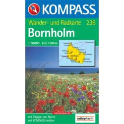 Carte randonnées Bornholm - Kompass 236