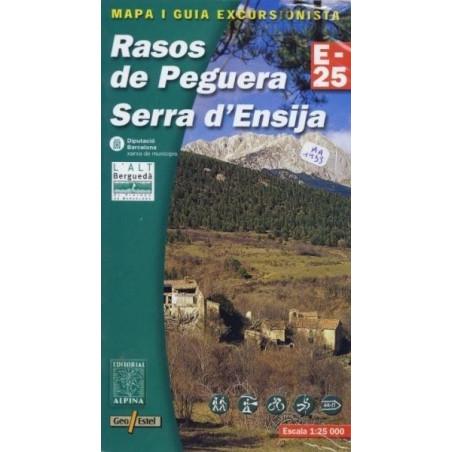 Achat Cartes randonnées Rasos de Peguera, Serra d'Ensija - Alpina