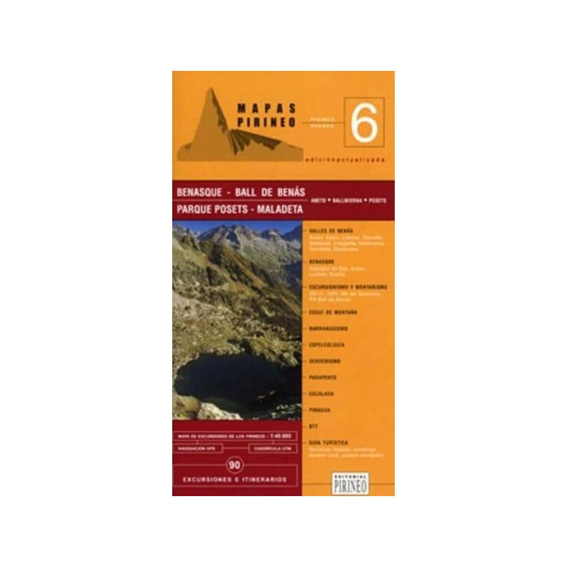 Achat Cartes randonnées Benasque - Editorial Pirineo