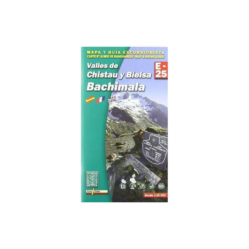 Achat Cartes randonnées Valles de Chistau y Bielsa, Bachimala - Alpina