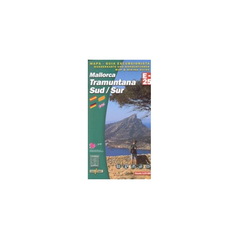 Achat Cartes randonnées Mallorca Tramuntana Sud - Alpina
