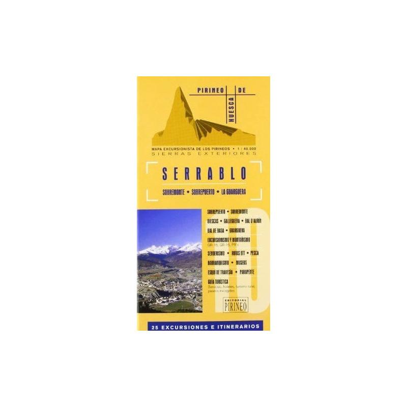 Achat Cartes randonnées Serrablo -  Editorial Pirineo