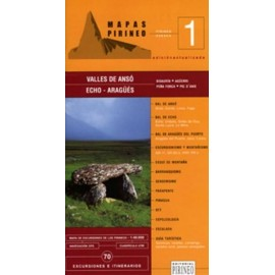 Achat Cartes randonnées Valles de Anso, Echo -  Editorial Pirineo
