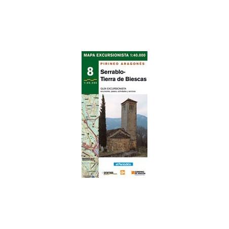 Achat Cartes randonnées Serrablo, Tierra de Biescas - Prames
