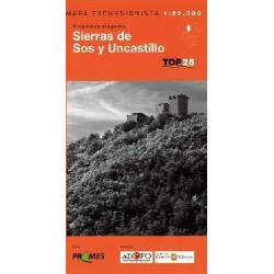 Achat Cartes randonnées Sierras de Sos y Uncastillo - TOP25 Prames