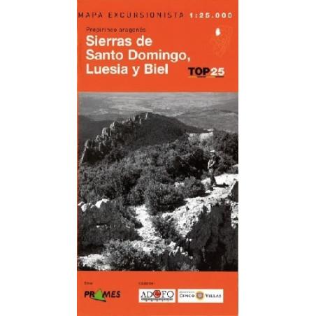 Achat Cartes randonnées Sierras de Santo Domingo - TOP25 Prames