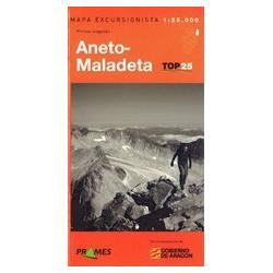 Achat Cartes randonnées Aneto Maladeta - TOP25 Prames