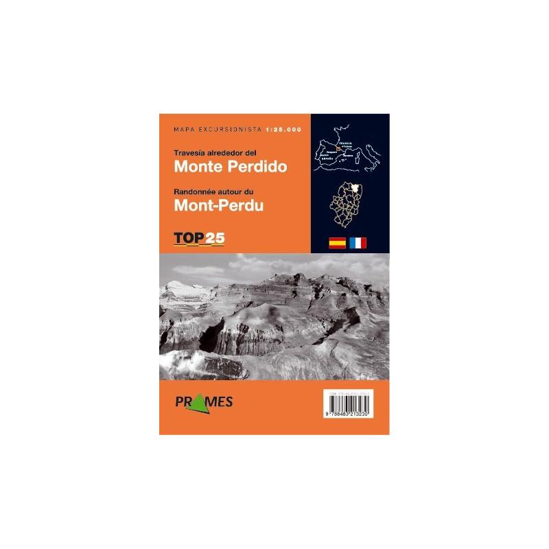 Achat Cartes randonnées Travesía alrededor del Monte Perdido - TOP25 Prames