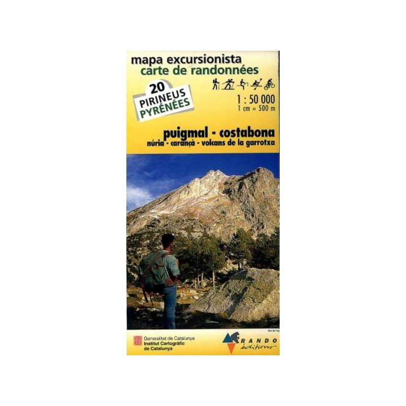 Achat Carte de randonnées Puigmal-Costabona - Randoéditions n°20