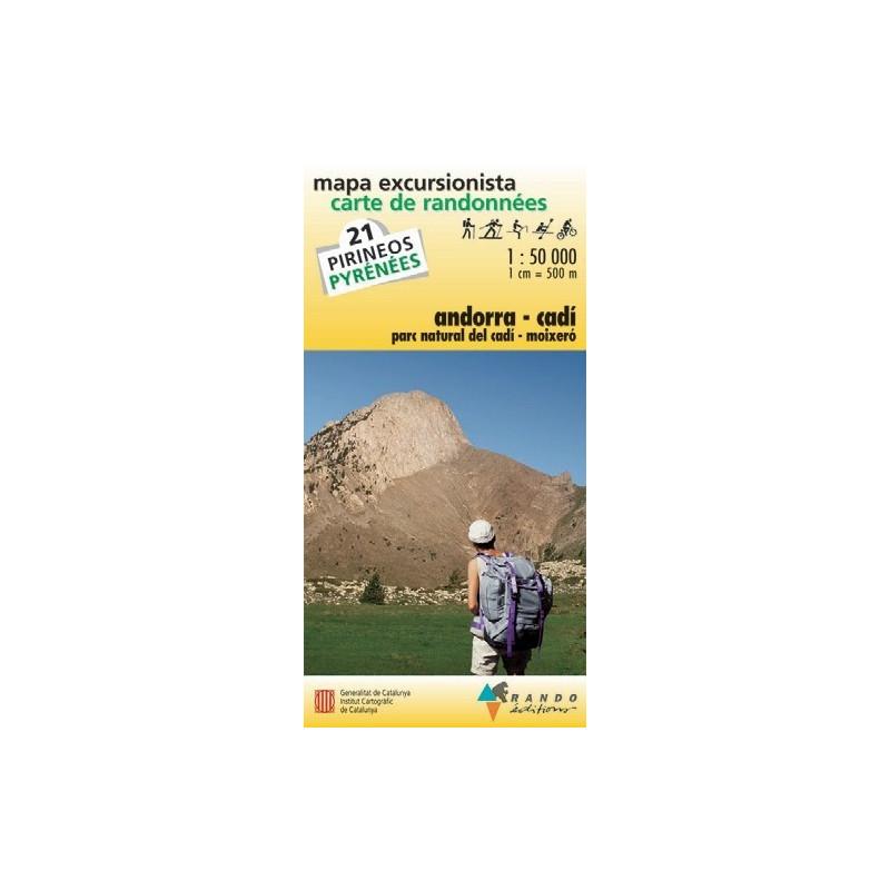 Achat Carte de randonnées Andorra-Cadi  - Randoéditions n°21