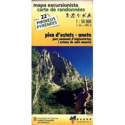 Achat Carte de randonnées Pica d'Estats-Aneto - Randoéditions n°22