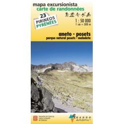 Achat Carte de randonnées Aneto-Posets - Randoéditions n°23