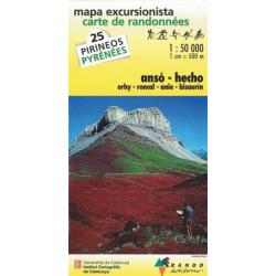 Achat Carte de randonnées Anso-Hecho - Randoéditions n°25