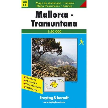 Achat Carte randonnées Mallorca-Tramuntana - Freytag 1