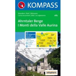 Carte randonnées Ahrntaler Berge / Monti di Valle Aurina - Kompass 082