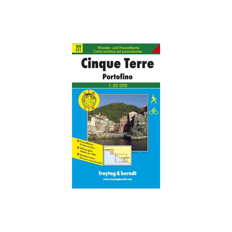 Achat Carte randonnées Cinque Terre, Portofino - Freytag 131